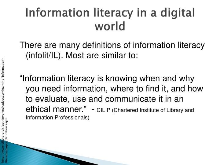 Information literacy in a digital world