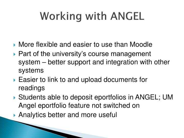 Working with ANGEL
