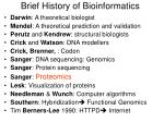 brief history of bioinformatics