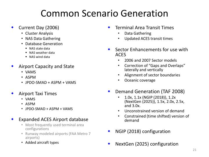 Common Scenario Generation