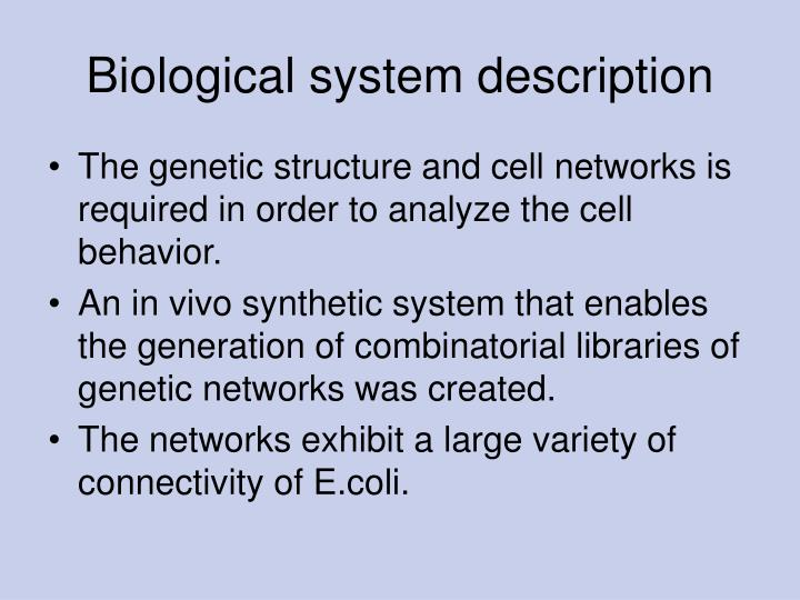 Biological system description