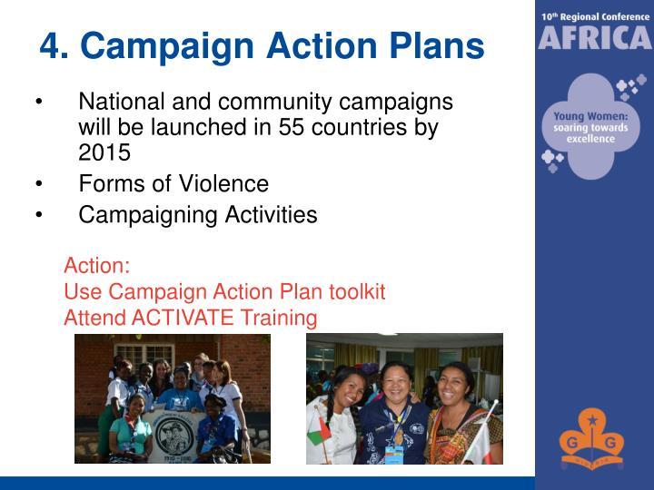 4. Campaign Action Plans