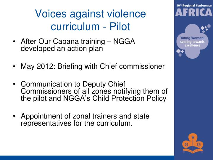 Voices against violence curriculum - Pilot