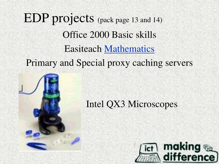 EDP projects