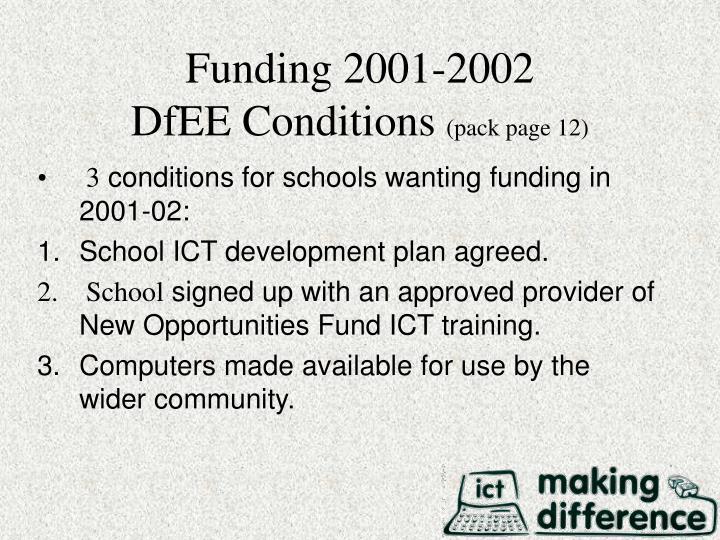 Funding 2001-2002