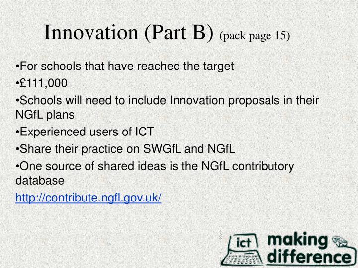 Innovation (Part B)