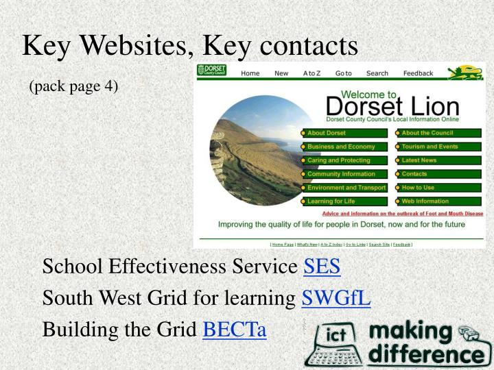 Key websites key contacts pack page 4
