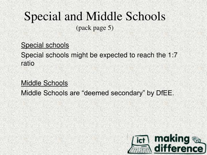 Special and Middle Schools