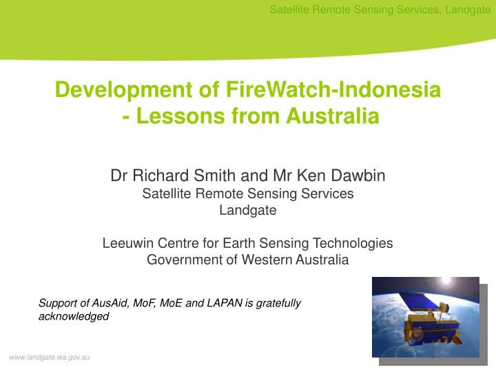 Development of FireWatch-Indonesia