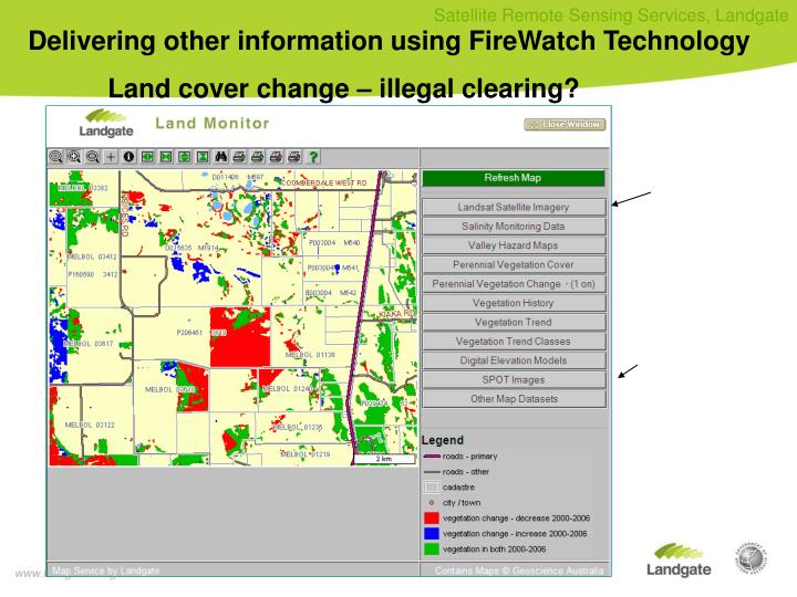 Delivering other information using FireWatch Technology