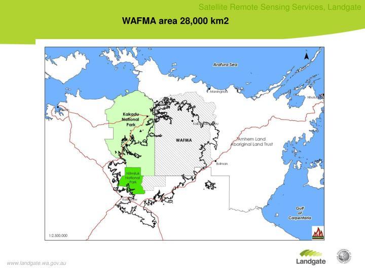 WAFMA area 28,000 km2