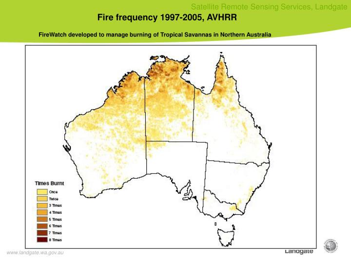 Fire frequency 1997-2005, AVHRR