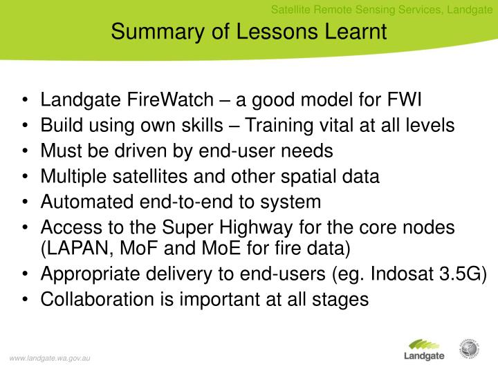 Landgate FireWatch – a good model for FWI