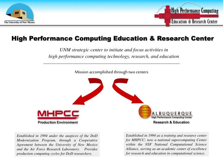 High Performance Computing Education & Research Center