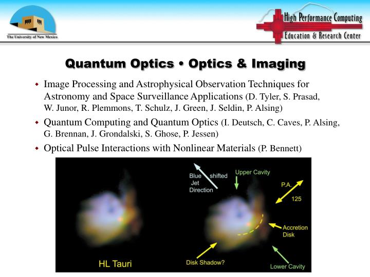 Quantum Optics • Optics & Imaging