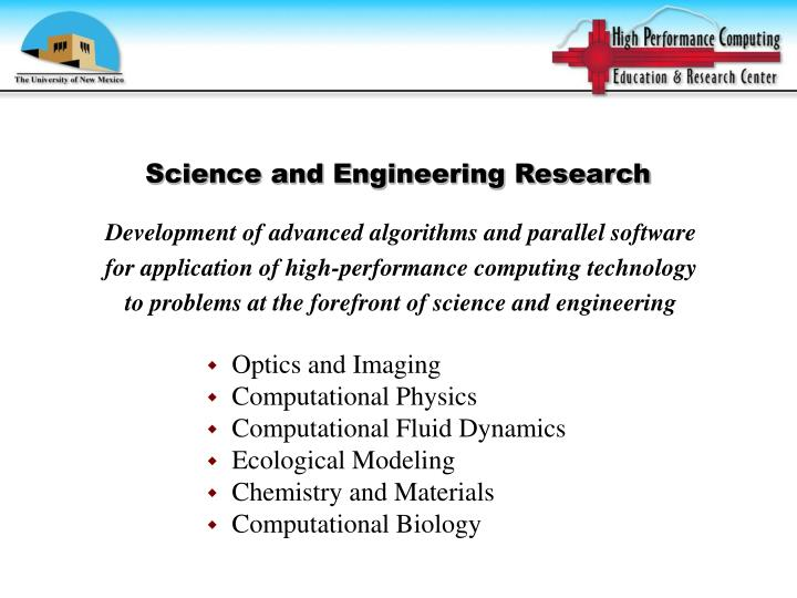 Science and Engineering Research