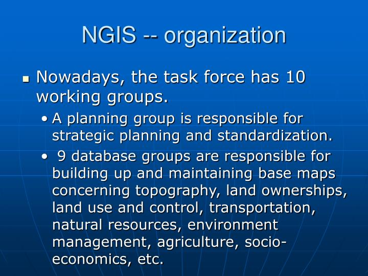 NGIS -- organization