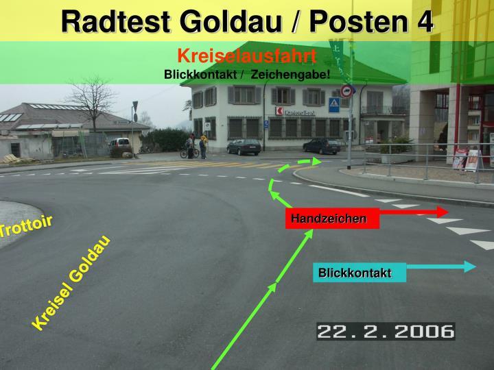 Radtest Goldau / Posten 4