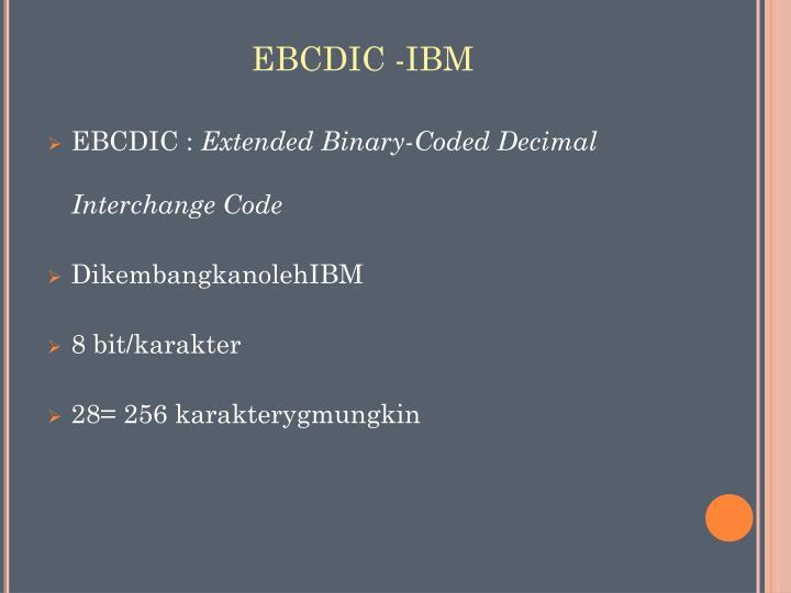 EBCDIC -IBM