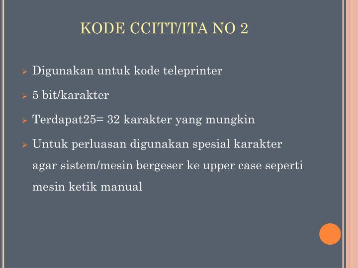 KODE CCITT/ITA NO 2