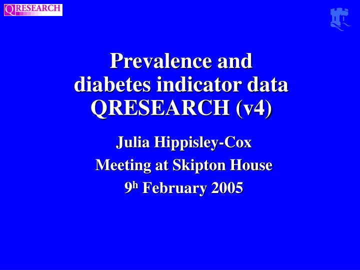 Prevalence and diabetes indicator data qresearch v4