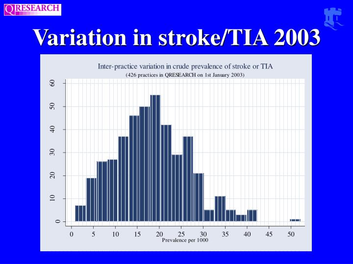 Variation in stroke/TIA 2003