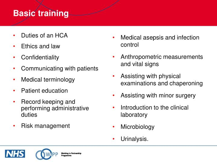 Duties of an HCA