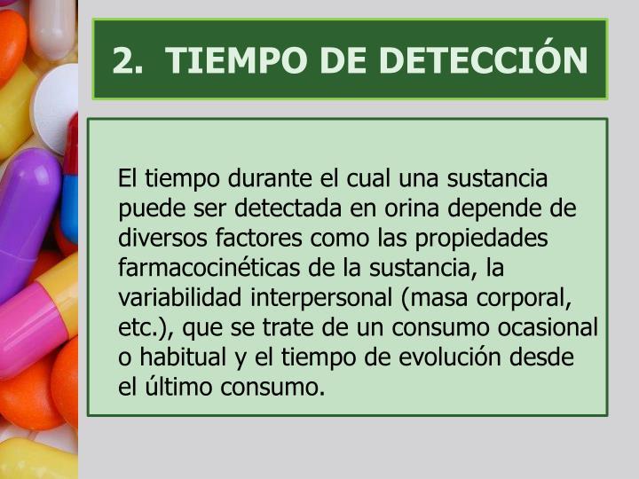 2.  TIEMPO DE DETECCIÓN