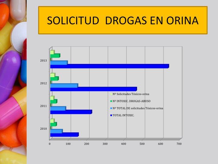 SOLICITUD  DROGAS EN ORINA