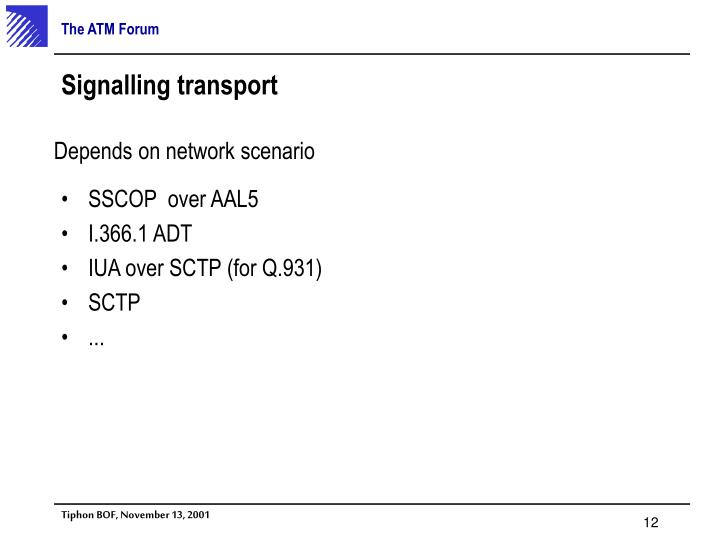 SSCOP  over AAL5