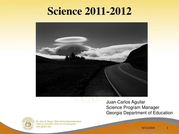 science 2011 2012