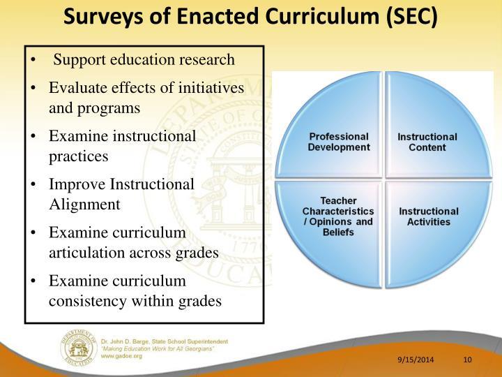 Surveys of Enacted Curriculum (SEC)