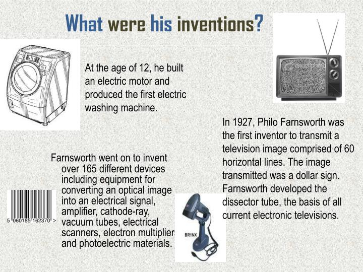 What were his inventions