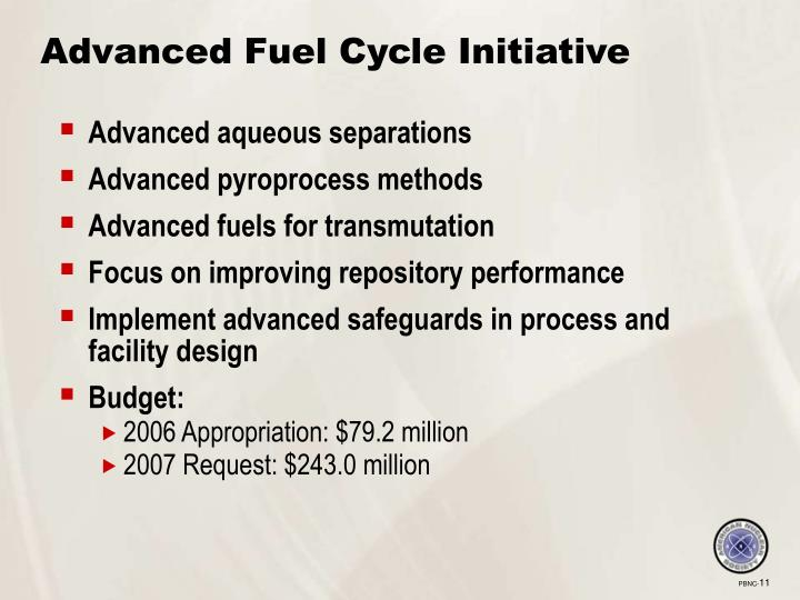 Advanced Fuel Cycle Initiative