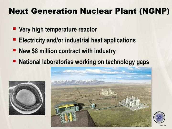 Next Generation Nuclear Plant (NGNP)