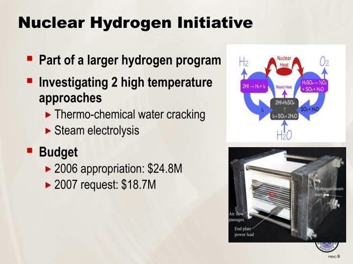 Nuclear Hydrogen Initiative