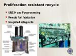 proliferation resistant recycle