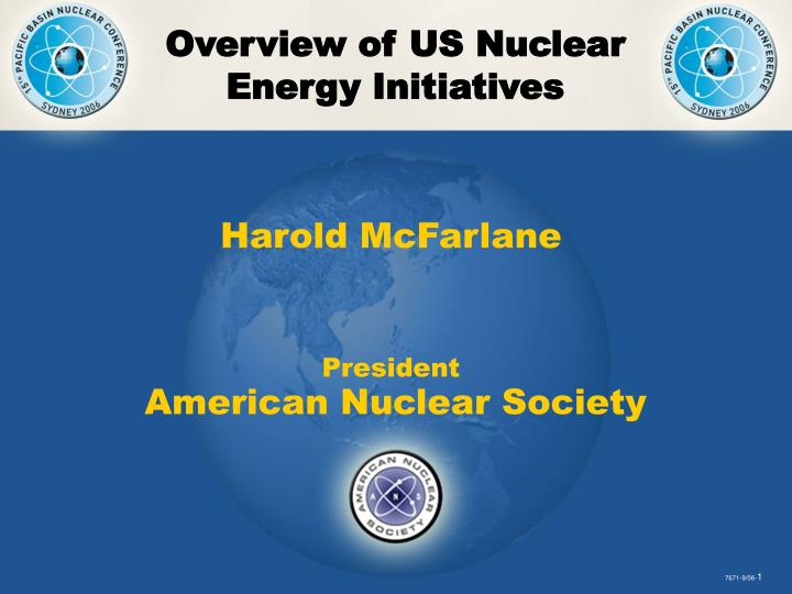 Overview of US Nuclear Energy Initiatives