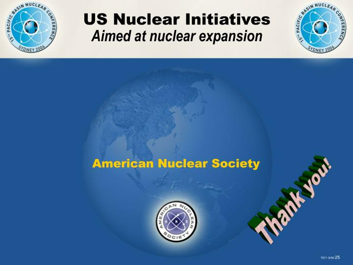 US Nuclear Initiatives