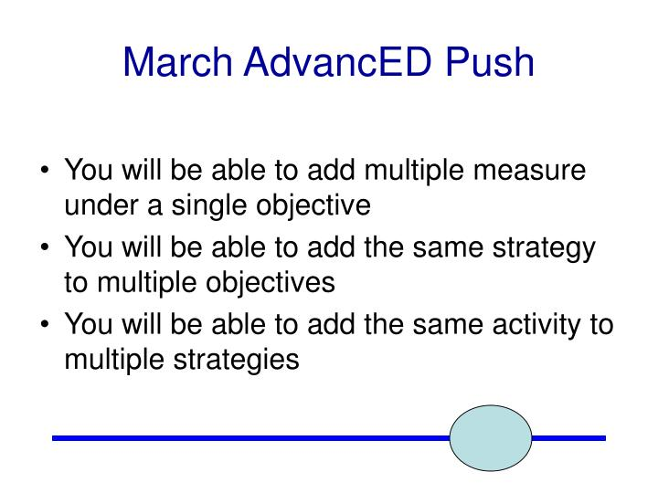 March AdvancED Push