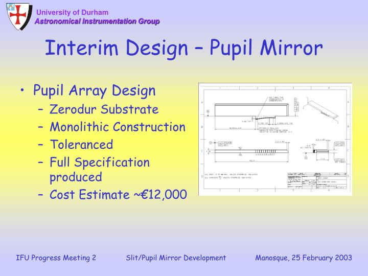 Interim Design – Pupil Mirror