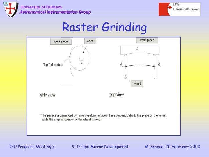 Raster Grinding