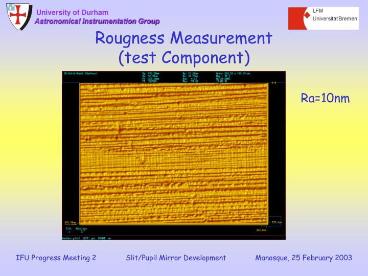 Rougness Measurement