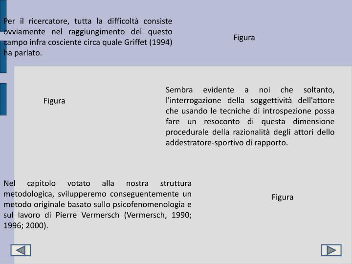 Per il ricercatore, tutta la difficoltà consiste ovviamente nel raggiungimento del questo campo infra cosciente circa quale Griffet (1994) ha parlato.