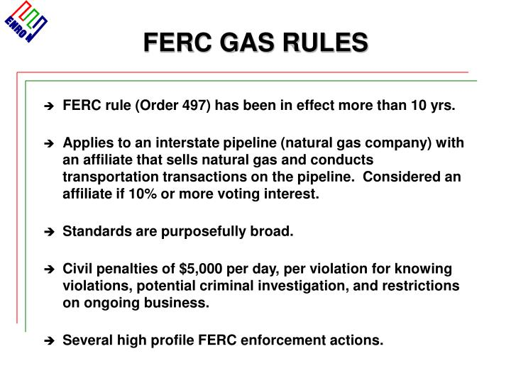 FERC GAS RULES