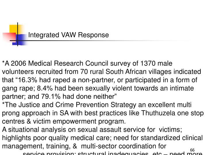 Integrated VAW Response