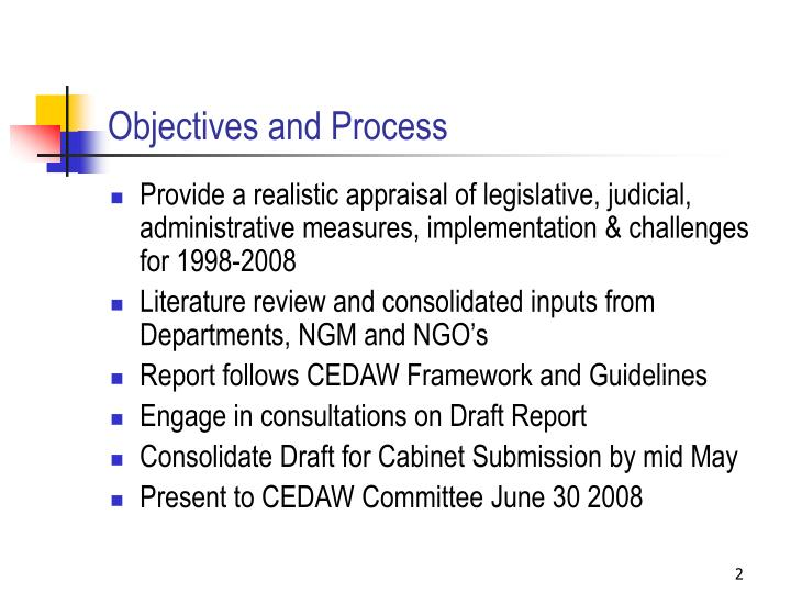 Objectives and Process
