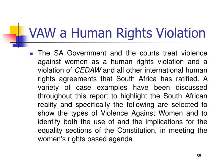 VAW a Human Rights Violation