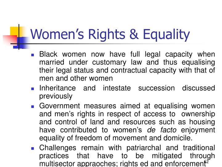 Women's Rights & Equality