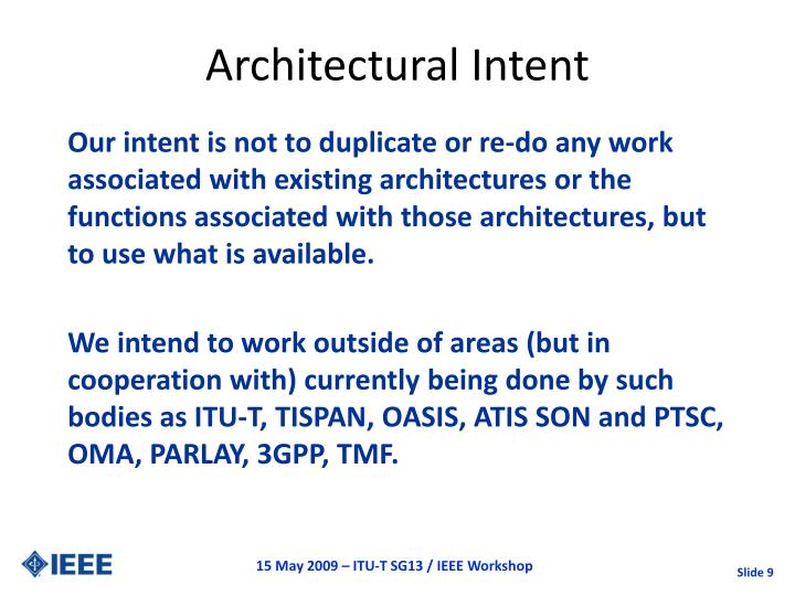 Architectural Intent